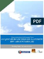 Democratizacion de la Economia Vasca. LO QUE HUBO DETRAS DE LA FUSION BBV ARGENTARIA II