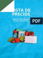 Precios Cuidados hasta el 6 de mayo de 2016-Región NOA