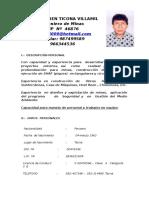 Cv - Yohn Efren Ticona Villamil