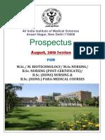 M.sc B.sc Prospectus 2013