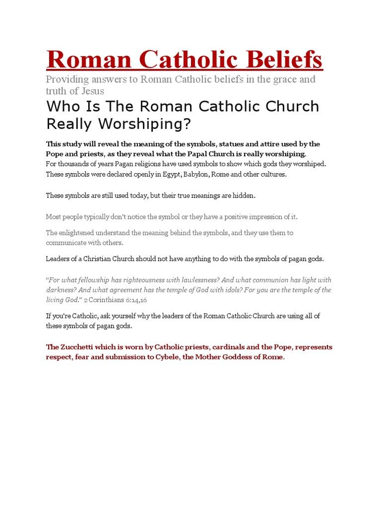 Roman Catholic Beliefs The Beast Revelation Catholic Church