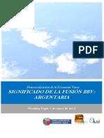 Democratizacion de la Economia Vasca. SIGNIFICADO DE LA FUSION BBV ARGENTARIA