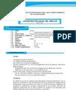 Programacion y Unidad 3ero - 2016