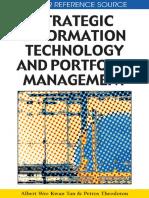 Strategic Information Technology and Portfolio Management (IGI Global 2009)