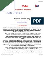 Cuba. Una Identità in Movimento --- Macua (2)
