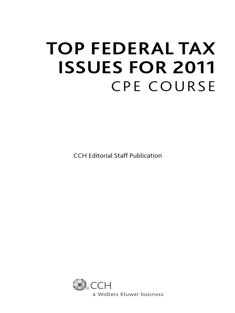 Top federal tax issues for 2011 patient protection and affordable top federal tax issues for 2011 patient protection and affordable care act united states government fandeluxe Images
