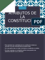Atributos de La Constitución