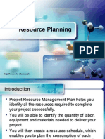 Chapter 8 - Resource Planning