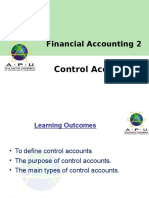 FA 2 Chapter 1 Control Accounts