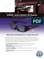 Brochure Active 3d Glasses