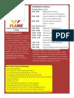 FLAME Conference 2016 Newsletter Flyer - PDF