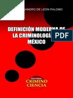 Libro Definición Moderna de la Criminología de México de Omar Alejandro De León Palomo (1).pdf