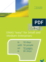 "EMAS ""easy"" for Small and Medium Enterprises - in 10 days with 10 people on 10 pages in 30 steps"