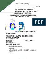Trabajo Generacion de Energia Fotovoltaica
