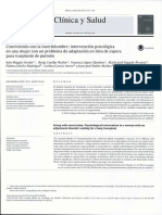2015, Conviviendo Con La Incertidum Bre Intervención Psicológica en Una m Ujer Con Un Problema de Adaptación en Lista de Espera Para Trasplante de Pulmón