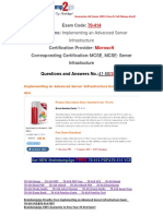 [PDF&VCE]Braindump2go 70-414 Study Guide Free Download 41-50