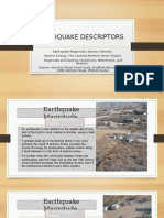 Earthquake Descriptors