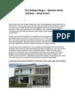 Jual Rumah Di Cimahpar Bogor – Nyaman Untuk Istirahat – Good Invest - www.beatmakers.net