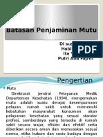 PPT Batasan Penjaminan Mutu