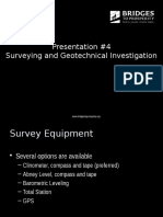 4. Surveying Geotechnical Investigation