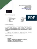 CV Ing. M.a. Carlos Eduardo Echeverría Urrutia1