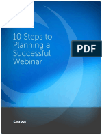 10 Steps to Planning Successful Webinars Final