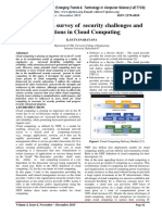 Insight into a survey of security challenges and solutions in Cloud Computing
