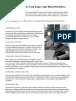 Cara Mengelola Situs Yang Bagus Agar Blog Berkualitas