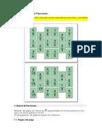 Baraja de Cartas de Fracciones- Juegos e Instrucciones