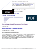 • Proton Inspira Owners Club • How to Change Manual Transmission Fluid Change