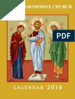 Orthodox Calendar 2016