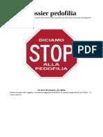 Bozza Dossier Pedofilia