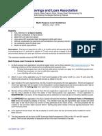 Multi Purpose Loan Guidelines Effective 20140701