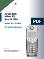 HiPath 3000 V1.2 Gigaset 4000 Comfort Operating Instructions