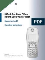 HiPath 3000 V3.0 Gigaset Active M Operating Instructions