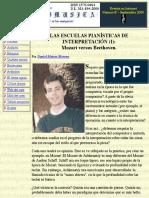Las Escuelas Pianísticas de Interpretación (I)