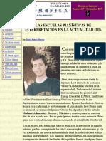 Las Escuelas Pianísticas de Interpretación en La Actualidad (III).