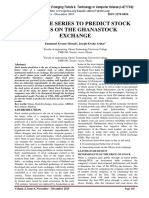 USING TIME SERIES TO PREDICT STOCK PRICES ON THE GHANASTOCK EXCHANGE