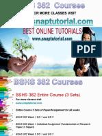 BSHS 382 Apprentice tutors / snaptutorial