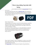 Khám Phá Nikon Cùng Những Ống Kính Chất Lượng