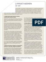 Medical Marijuana - natl policy agenda onepager
