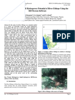 Evaluation of the Small Hydropower Potential of River Ethiope Using the RETScreen Software