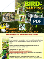 Bird Watching Guidlines 2016