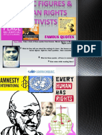 Quotes From Heroic Figures and Human Rights Activists