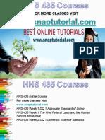 HHS 435 Apprentice tutors/snaptutorial