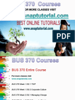 BUS 370 Apprentice tutors/ snaptutorial