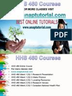 HHS 460 Apprentice tutors/snaptutorial