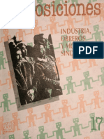 Revista Proposiciones_Industria, Obreros y Movimiento Sindical