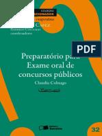 CONALGO, Cláudia. Preparatório Para Exame Oral - Coleção Estudos Direcionados. 2010