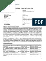 International Consumer Behavior ECTS (1)